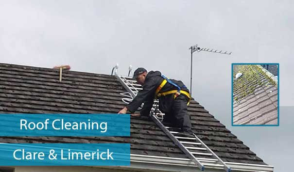 Roof Cleaner in Ennis, Clare and Limerick City